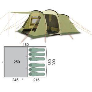 Палатка Pinguin Interval 6 Green
