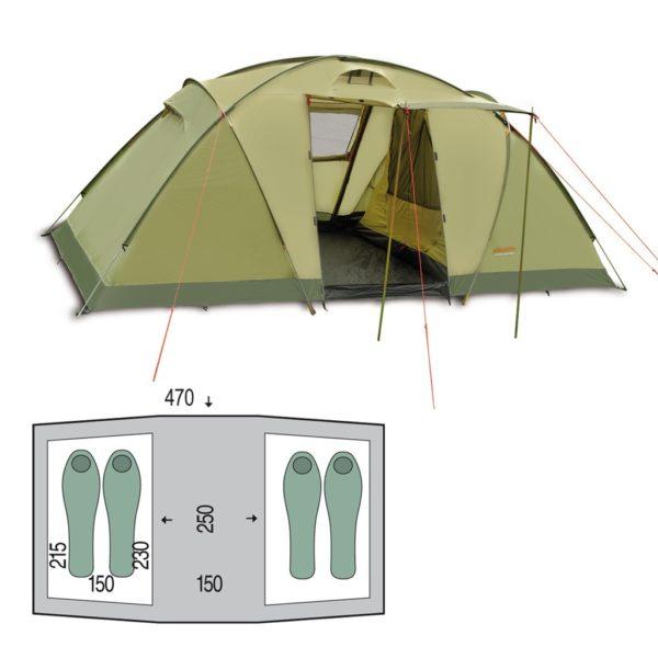 Палатка Pinguin Base Camp Green