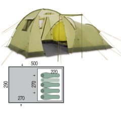 Палатка Pinguin Omega 4 Green