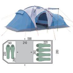 Палатка Pinguin Omega 6 Blue