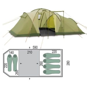 Палатка Pinguin Omega 6 Green