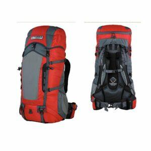 Рюкзак Terra Incognita Action 45 красный/серый