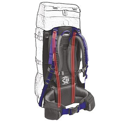 Рюкзак Terra Incognita Titan 60 синий/серый
