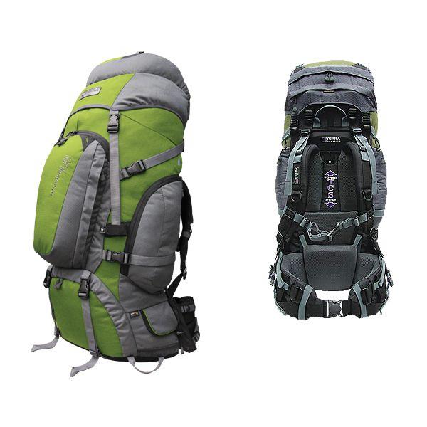 Рюкзак Terra Incognita Discover 85 Pro зеленый/серый