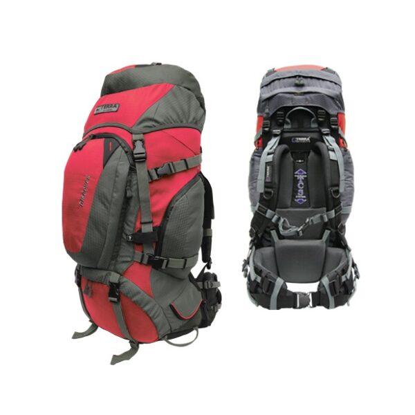 Рюкзак Terra Incognita Discover 70 (красный/серый)