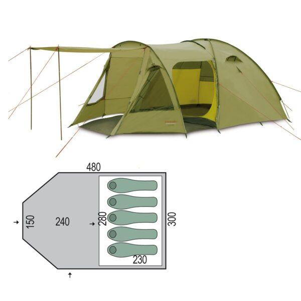 Палатка Pinguin Campus 5 Duralu