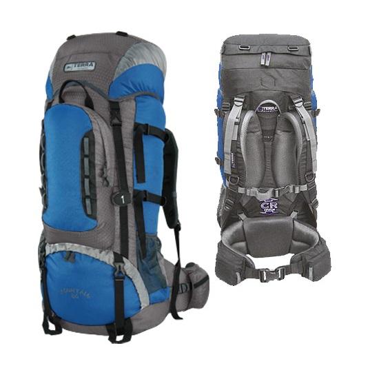 Рюкзак Terra Incognita Mountain 65 синий/серый