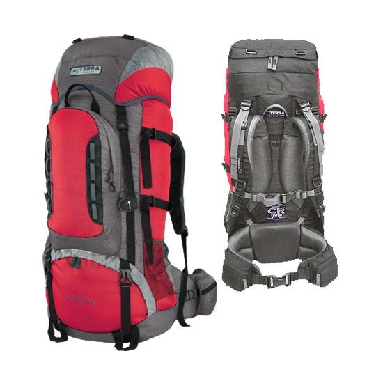 Рюкзак Terra Incognita Mountain 65 красный/серый