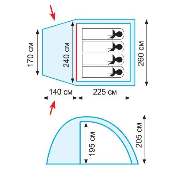 Палатка Tramp Bell 4 (V2)