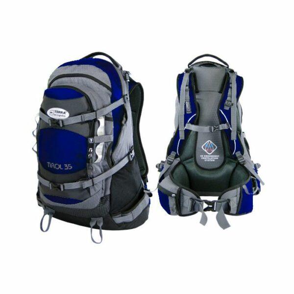 Рюкзак Terra Incognita Tirol 35 голубой/серый