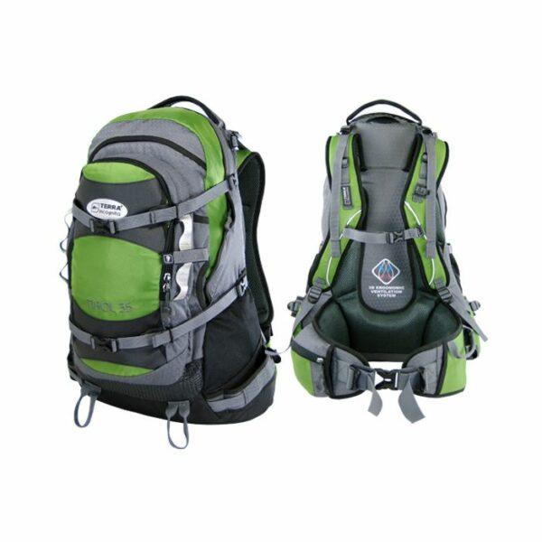 Рюкзак Terra Incognita Tirol 35 зеленый/серый