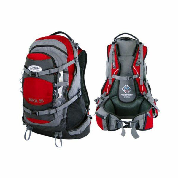 Рюкзак Terra Incognita Tirol 35 красный/серый