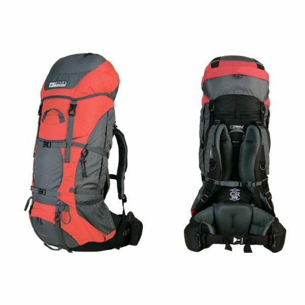 Рюкзак Terra Incognita Titan 80 оранжевый/серый