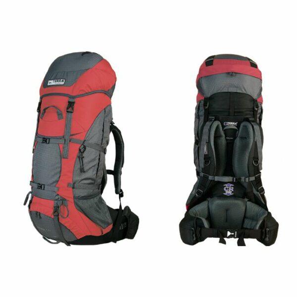 Рюкзак Terra Incognita Titan 60 красный/серый