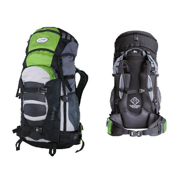 Рюкзак Terra Incognita Tour 35 зеленый/серый