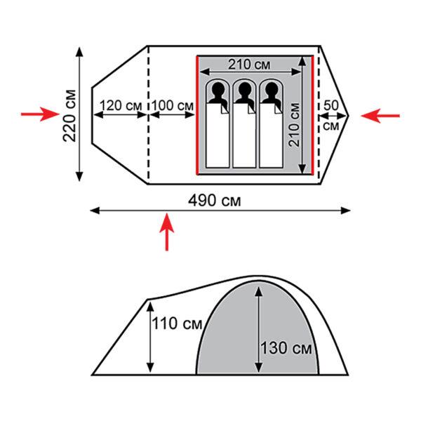 Палатка Tramp Cave (V2)
