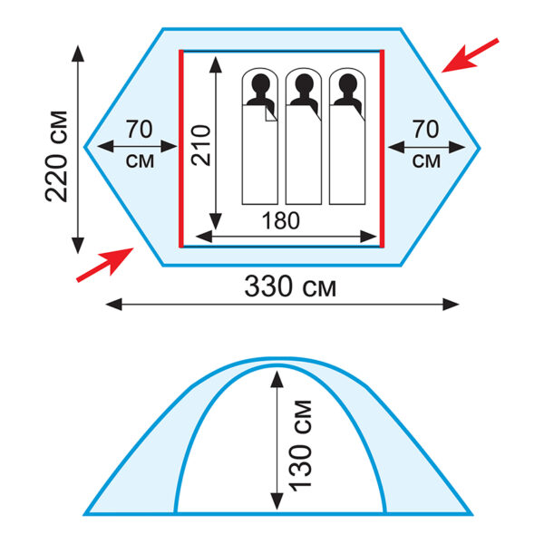 Палатка Tramp Rock 3 (V2)