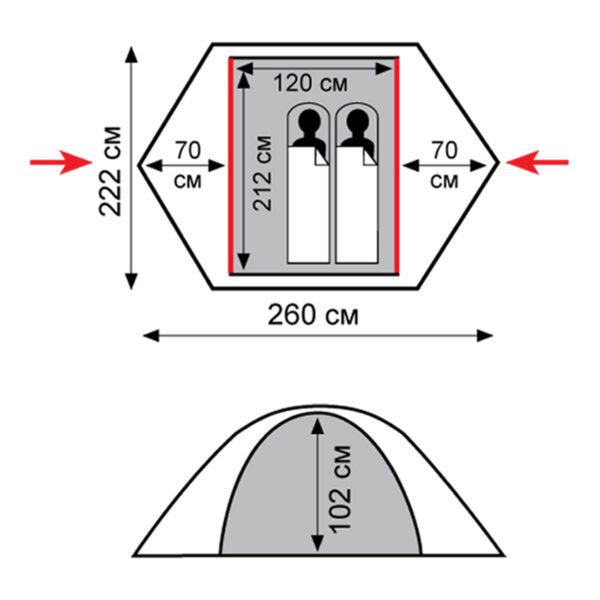 Палатка Tramp Sarma (V2)