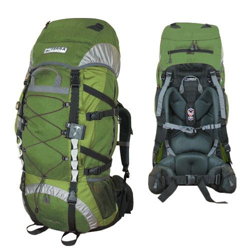Рюкзак Terra Incognita Trial 75 зеленый/серый