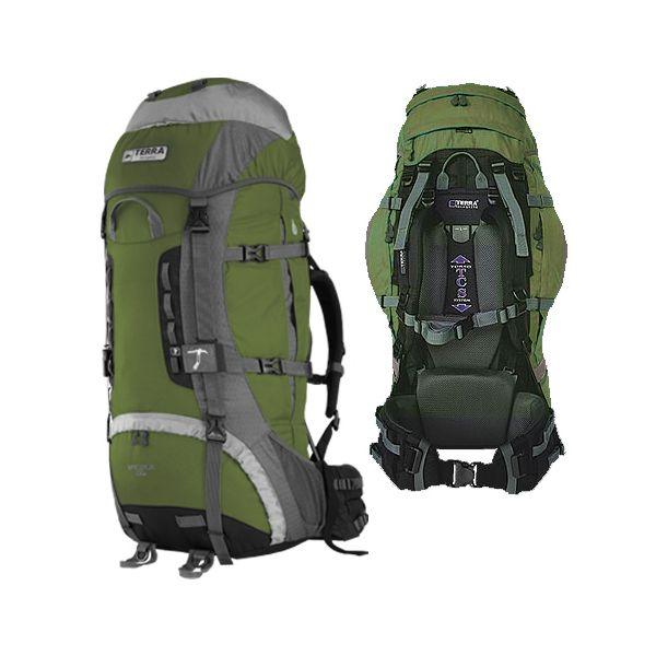 Рюкзак Terra Incognita Vertex 100 зеленый/серый