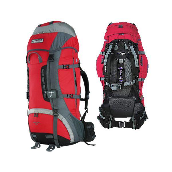 Рюкзак Terra Incognita Vertex 80 красный / серый